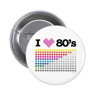 i_ove 80s 6 cm round badge