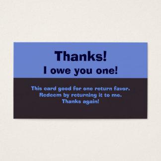 I Owe You A Favor