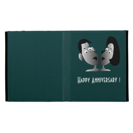 "I Pad case  "" Happy couple"" iPad Folio Covers"