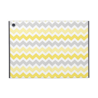 i Pad  Lemon Grey Chevrons Pattern iPad Mini Covers