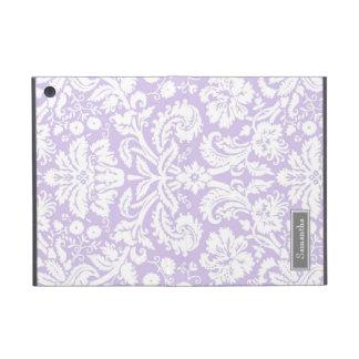 i Pad  Lilac Damask Custom Name iPad Mini Cover