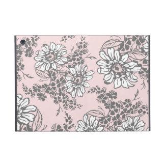 i Pad  Pink Gray Floral Pattern iPad Mini Case