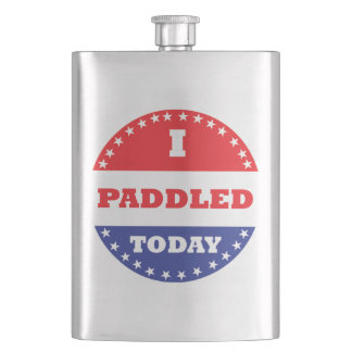 I Paddled Today Hip Flask