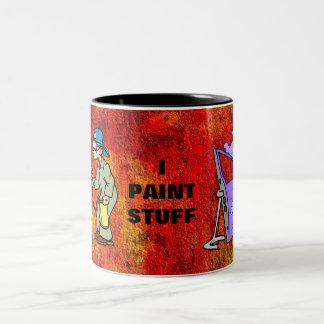 I Paint Stuff Two-Tone Coffee Mug