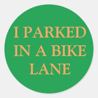 I parked in a bike lane sticker