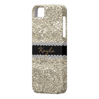 I phone 5 CASE Custom GOLD GLITTER Bling Case For The iPhone 5