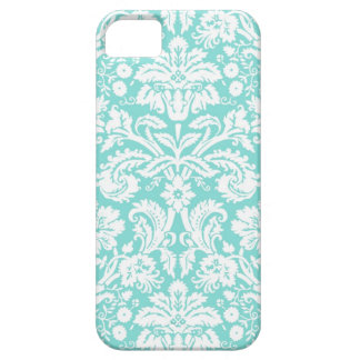 i Phone 5 Teal Damask Pattern Barely There iPhone 5 Case