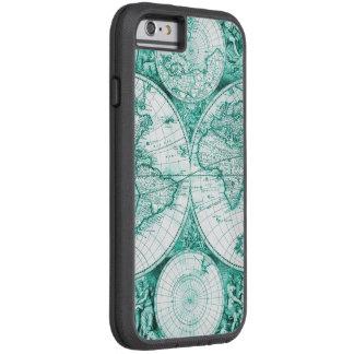 I-Phone Aqua World Map Case Cover