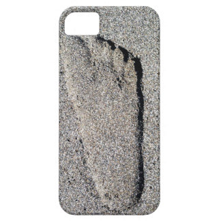 I phone case with a footprint in the sand
