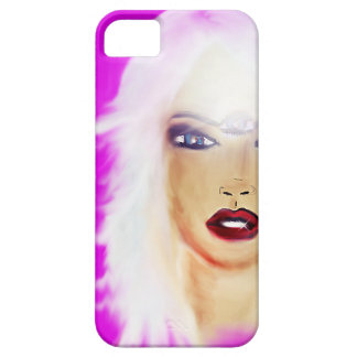 i phone funky case  modern lady 3rd eye art