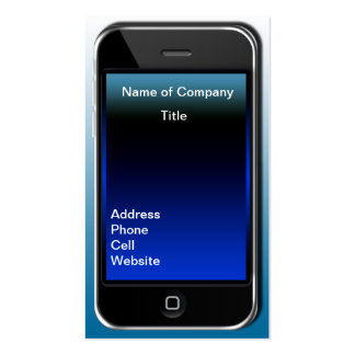i phone type Business Card