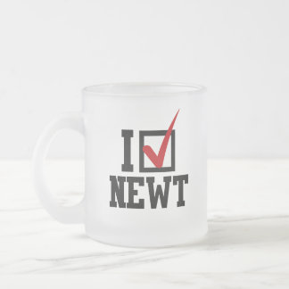 I PICK NEWT FROSTED GLASS MUG