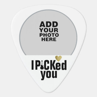 I picked you, love wedding couple photo guitar pick