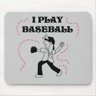I Play Baseball- Girl Tshirts and Gifts Mouse Pad