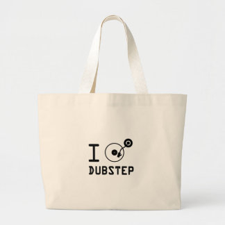 I play Dubstep / I love Dubstep / I heart Dubstep Canvas Bag