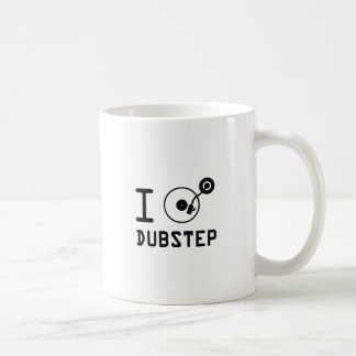 I play Dubstep / I love Dubstep / I heart Dubstep Basic White Mug