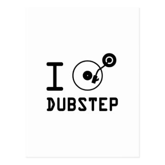 I play Dubstep / I love Dubstep / I heart Dubstep Postcard