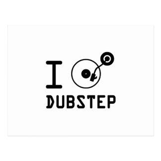I play Dubstep / I love Dubstep / I heart Dubstep Postcard