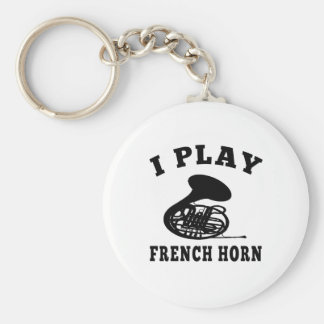 I Play French horn Key Ring