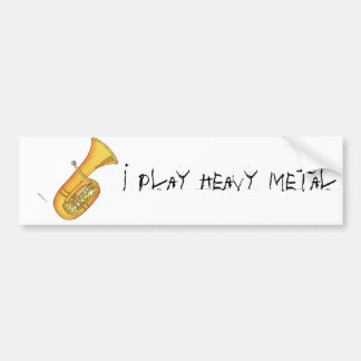 I Play Heavy Metal Bumper Sticker