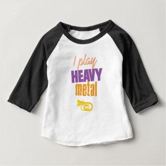 I Play Heavy Metal Funny Tuba Player Baby T-Shirt