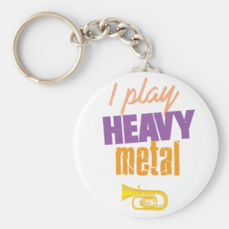 I Play Heavy Metal Funny Tuba Player Key Ring