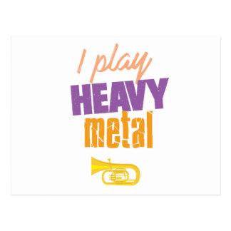 I Play Heavy Metal Funny Tuba Player Postcard