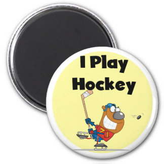 I Play Hockey Tshirts and Gifts Fridge Magnets
