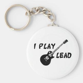 I Play Lead Guitar Key Ring