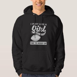 I Play Like A Girl Rugby Hoodie