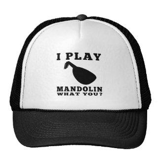 I Play Mandolin Trucker Hats