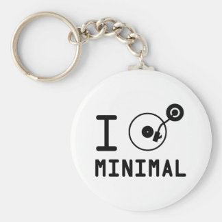 I play Minimal MNL / I love Minimal MNL / DJ  Viny Keychain
