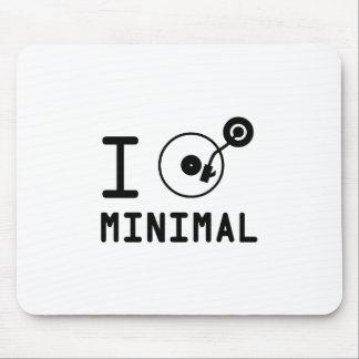 I play Minimal MNL I love Minimal MNL DJ Viny Mouse Pads