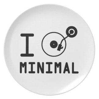 I play Minimal MNL / I love Minimal MNL / DJ  Viny Dinner Plate