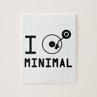 I play Minimal MNL / I love Minimal MNL / DJ  Viny Jigsaw Puzzle