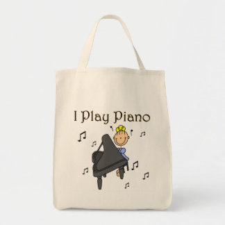 I Play Piano T-shirts and Gifts Canvas Bags