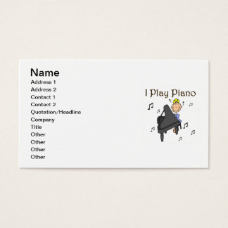 I Play Piano T-shirts and Gifts Business Card