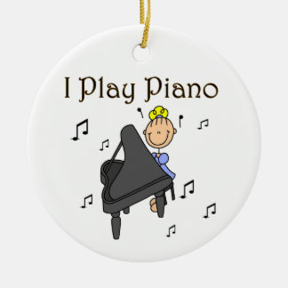 I Play Piano T-shirts and Gifts Ceramic Ornament