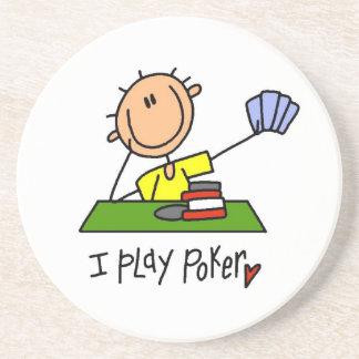 I Play Poker Coaster