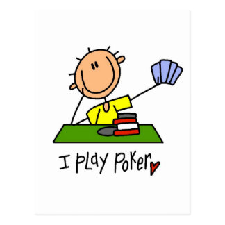 I Play Poker Tshirts and Gifts Post Card