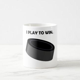 I Play To Win (Hockey) Coffee Mugs