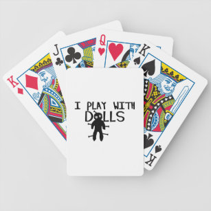I Play With Dolls Voodoo Bicycle Playing Cards