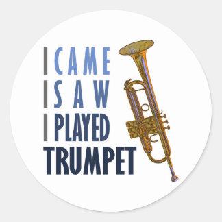 I Played Trumpet Classic Round Sticker