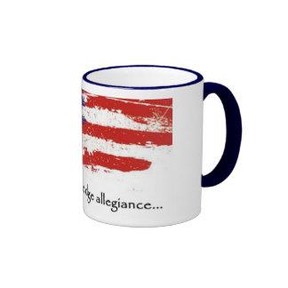 I pledge allegiance ringer mug
