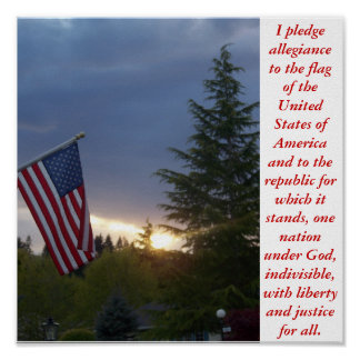 I pledge allegiance poster