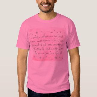 I pledge allegiance to God, pledge tee shirt
