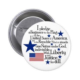 I pledge Allegiance to the flag of the United 6 Cm Round Badge
