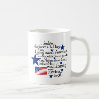 I pledge Allegiance to the flag of the United Basic White Mug