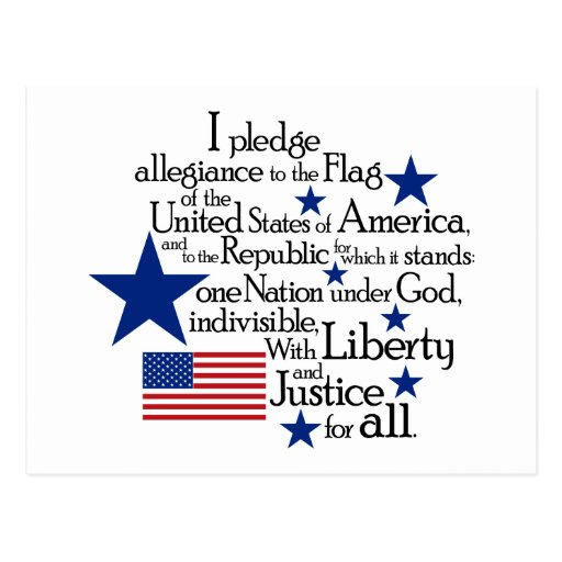 I pledge Allegiance to the flag of the United Postcard