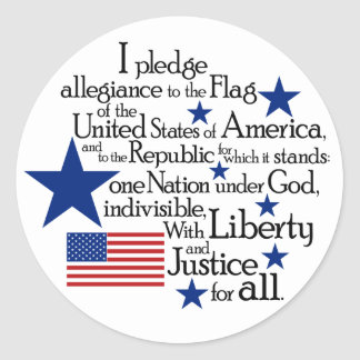 I pledge Allegiance to the flag of the United Round Sticker
